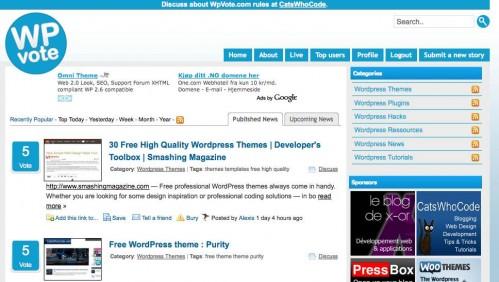 wpvote published news 499x282 Den ultimate Wordpress ressursen