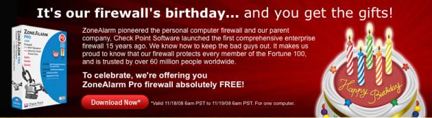 zonealarm pro 2009 630x173 ZoneAlarm Pro 2009   Helt gratis ut dagen!